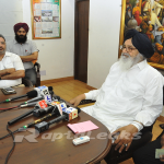 Badal meets slain police officer's family, assures all help