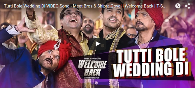 Tutti Bole Wedding Di VIDEO Song | Welcome Back
