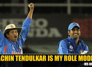 MS Dhoni and Sachin