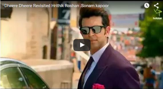 Dheere Dheere : Honey Singh Recreated Magic With Hrithik Roshan And Sonam Kapoor