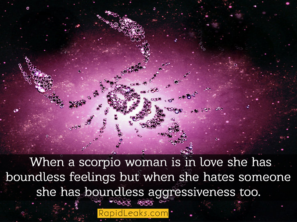 Woman scorpio loves you when a 8 Signs