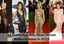 11 Times These Celebrity Wore Almost Naked Dresses In 2015 beyonce