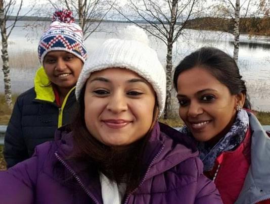 three women driving from New Delhi to London