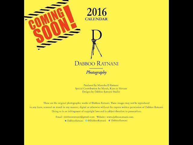 Dabboo Ratnani Calendar 2016