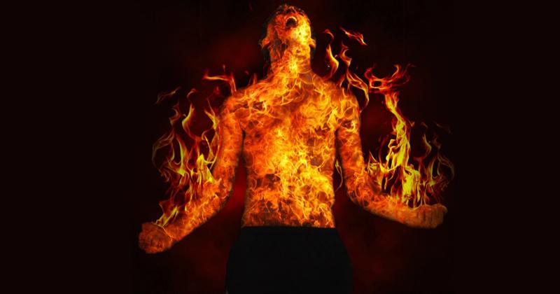 15 year boy burns himself