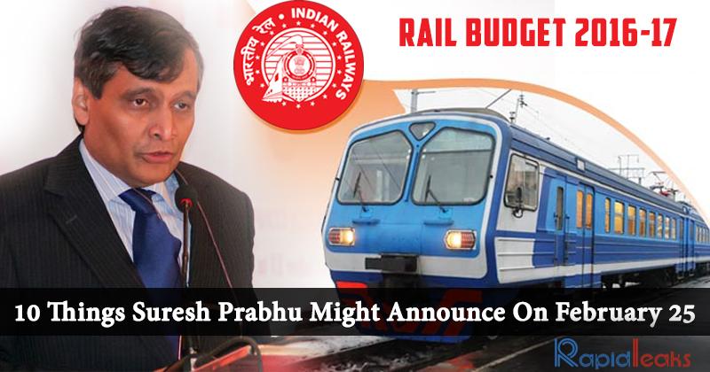 Rail Budget 2016-17