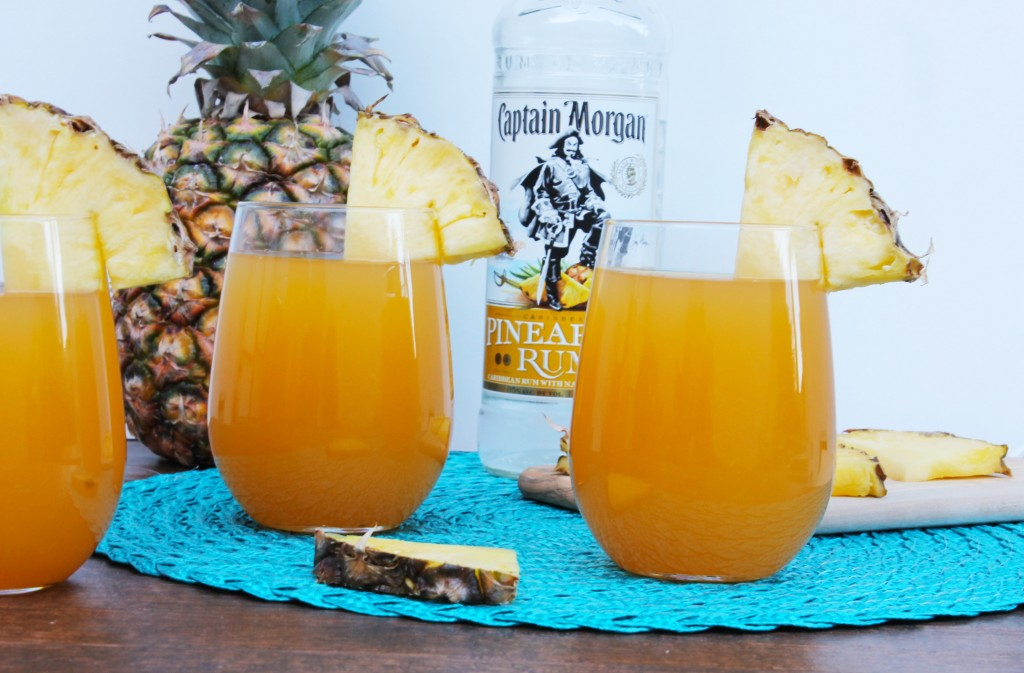 Pineapple and Mango Rum Cocktail