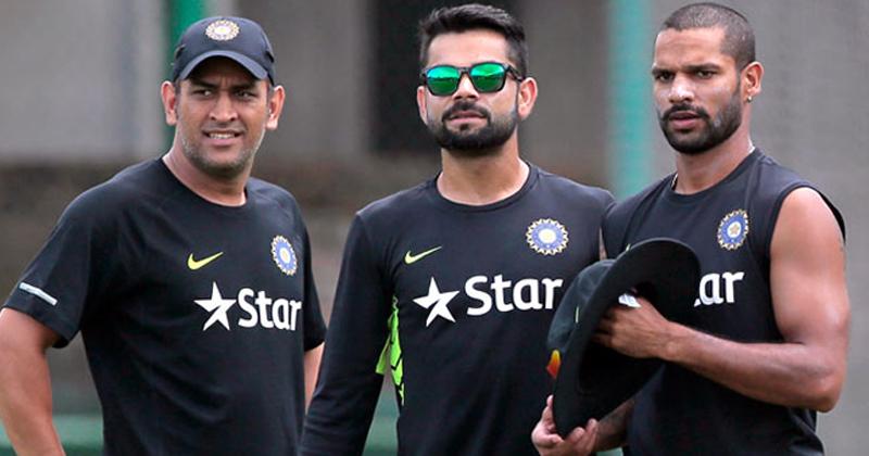 Dhoni, Virat & Dhawan