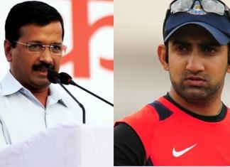 Gautam Gambhir and Arvind Kejriwal