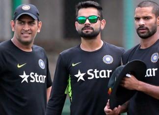 Virat Kohli, Shikhar Dhawan And dhoni