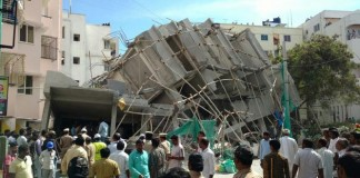 A Building In Bangaluru Collapsed