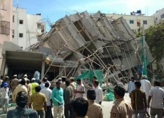 A Building In Bangaluru Collapsed