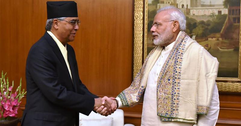 Narendra Modi and Deuba