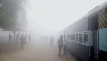 A total of 82 trains delayed and 16 cancelled due to fog.