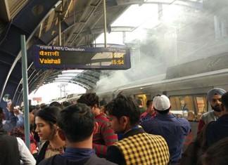 Delhi Metro Catches Fire