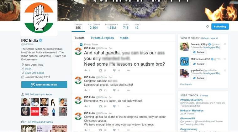 Rahul Gandhi and Congress twitter