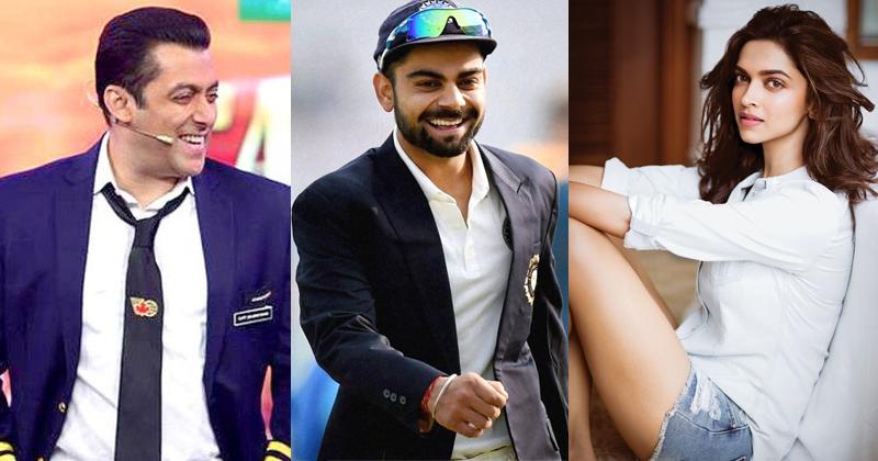 Salman, Kohli and deepika