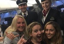 Three Friends on flight