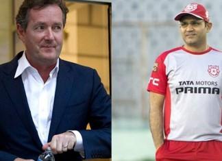 Virender Sehwag And Piers Morgan