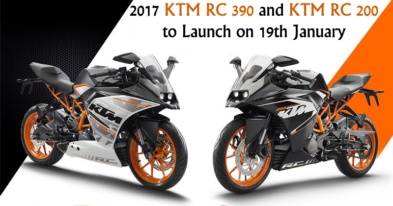 KTM RC 390 and RC 200