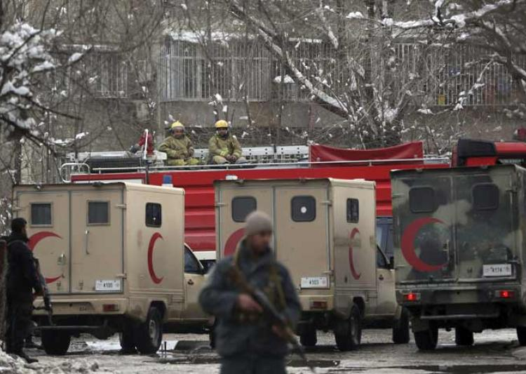 12 killed in a suicide blast at Afghan Supreme Court.