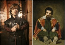 Peter Dinklage and don Sebastián de Morra.