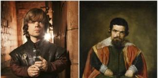 Peter Dinklage and don Sebastián de Morra.
