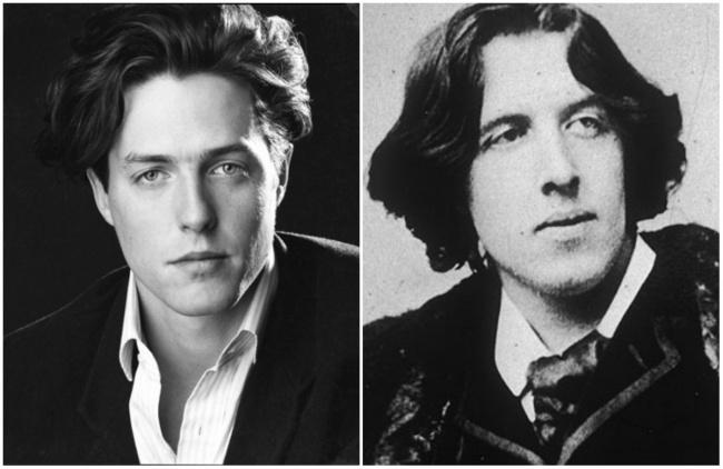 Hugh Grant and famous Irish writer Oscar Wilde.