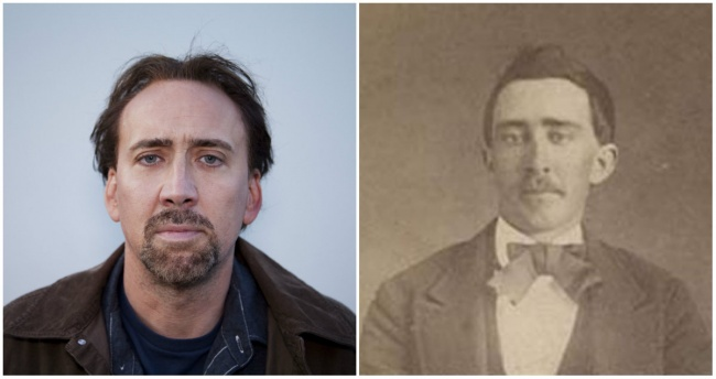 Nicolas Cage and a man from Tennessee who fought in the Civil War.