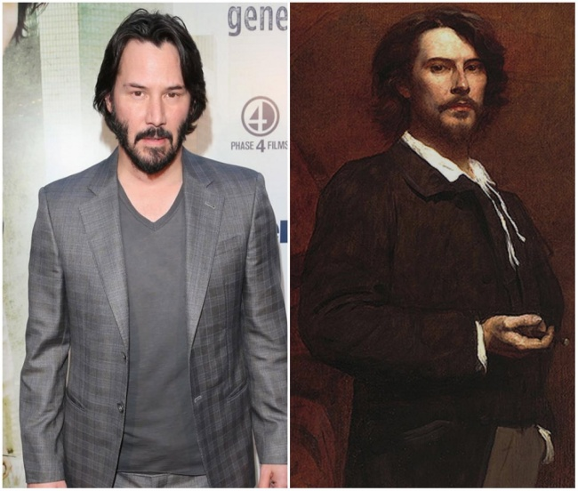 Keanu Reeves and French actor Paul Mounet