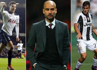 Dele Alli, Pep Guardiola and Paulo Dybala