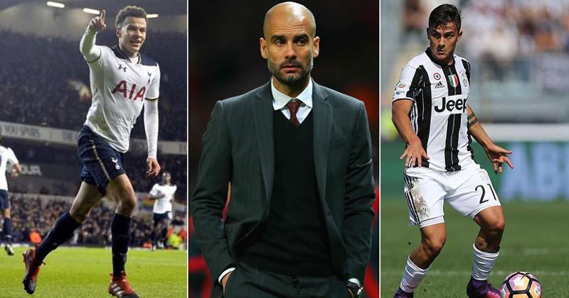 Dele Alli, Pep Guardiola and Paulo Dybala