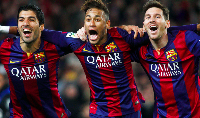 Messi, Neymar and Suarez