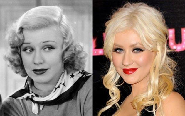 Christina Aguilera and Ginger Rogers.
