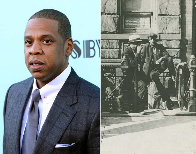 Jay-Z and an unknown man from Harlem.