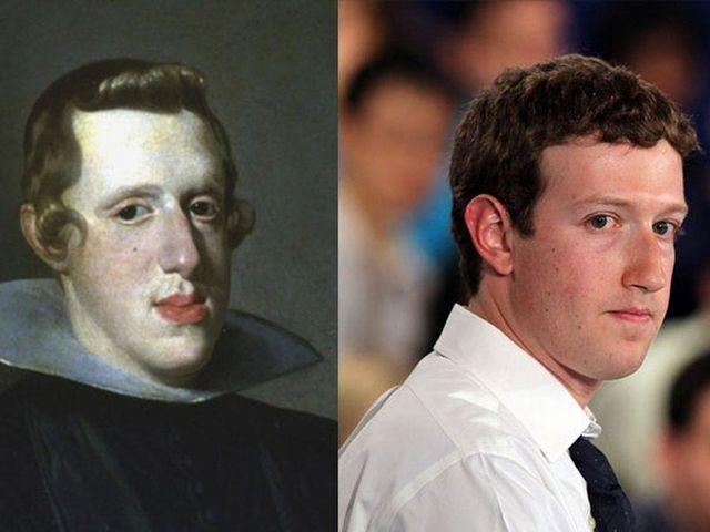 Mark Zuckerberg and Philip IV of Spain.