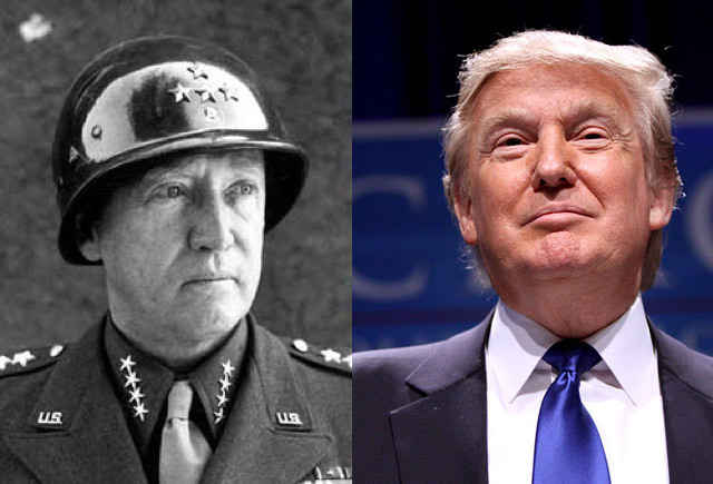 General George Patton and Donald Trump.