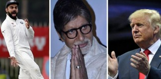 Amitabh Bachchan, Virat Kohli and Donald Trump