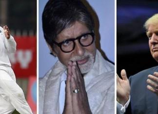 Amitabh Bachchan, Virat Kohli and Donald Trump