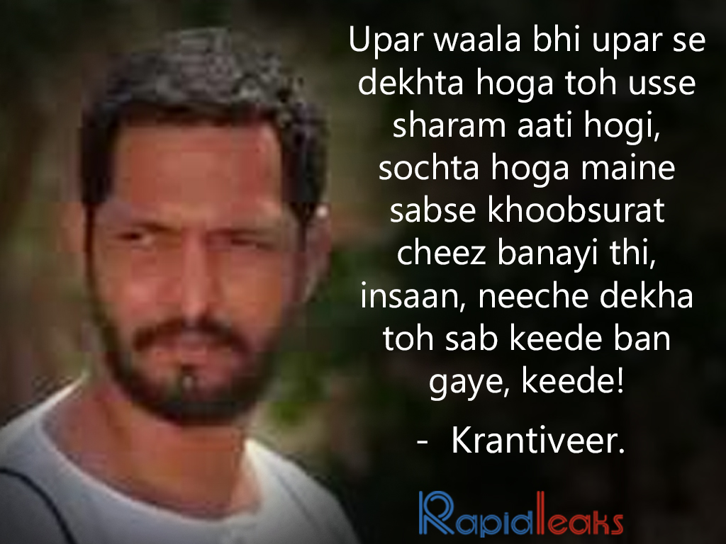 Nana patekar dialogues 12 dialogues by nana that proved he rules the power of conviction