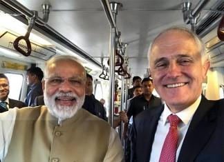 PM Modi And Australian PM Malcolm Turnbull