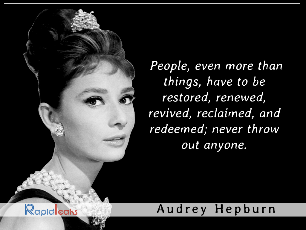 Audrey Hepburn: 15 Inspirational Quotes By The 'Icon Of ...