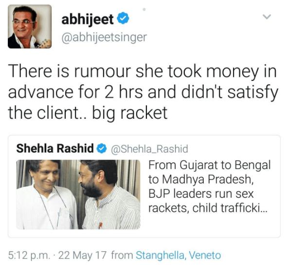 abhijeet bhattacharya's tweet