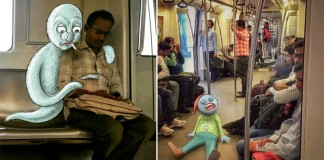Doodles Monsters On Delhi Metro