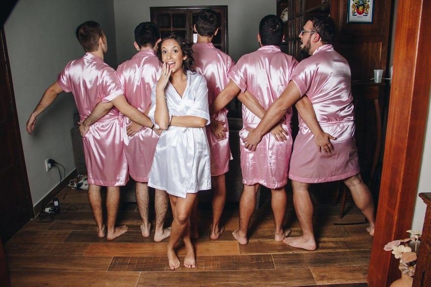 male bridesmaids
