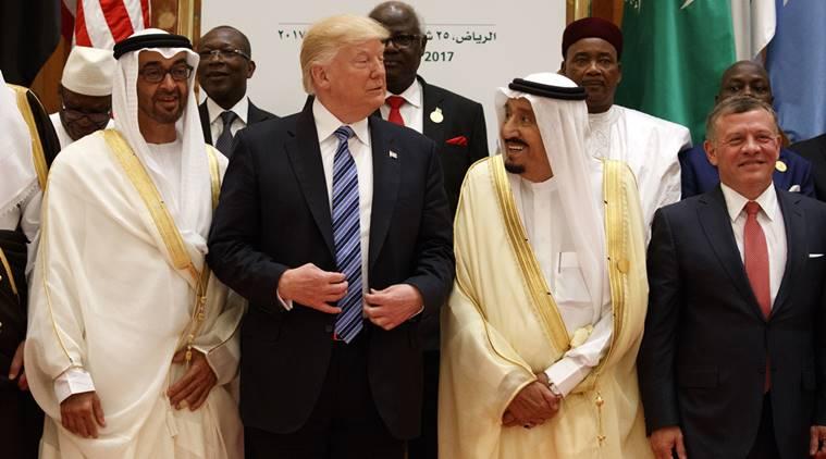 Donald Trump, Salman, Abdallah II