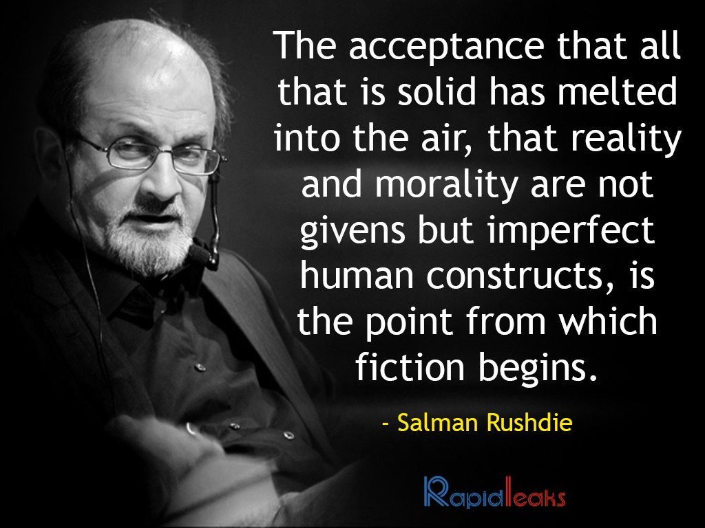 a biography of salman rushdie a writer Biography salman rushdie is the author of eleven novels, one collection of short stories, three works of non-fiction, and the co-editor of the vintage book of indian.