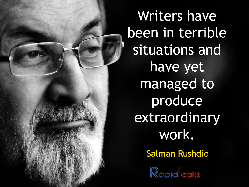 salman rushdie papers Salman rushdie sir ahmed salman rushdie is unarguably one of the most controversial contemporary english novelist his novelistic sensibility is individualistic and entrepreneurial, making him a literary risk-taker even at the age of 58.