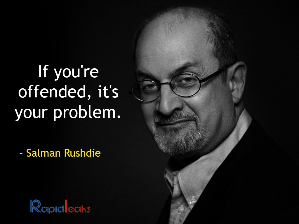 salmon rushdie essays I thought this was a very good read salman rushdie does a great job with writing this short essay in the end, he leaves you with more questions than answers i think that is vital for a great essay the topic of abortion is always a heated debate as rushdie states, here's a tough nut.