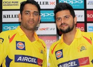 Suresh Raina and MS Dhoni